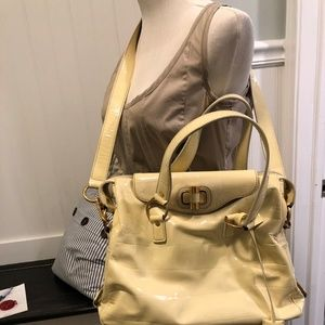 YSL Ivory Patent leather Gold Muse Bag